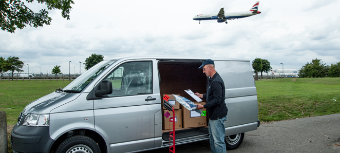 Courier located at Heathrow